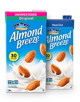 Almond Breeze shelf stable product packaging