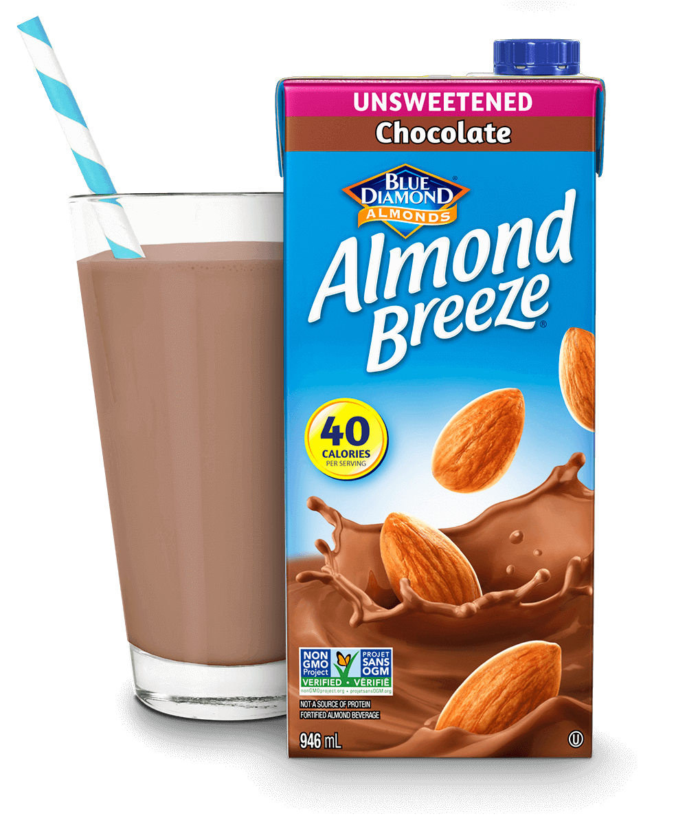 Almond Breeze Shelf Stable Unsweetened Chocolate packaging