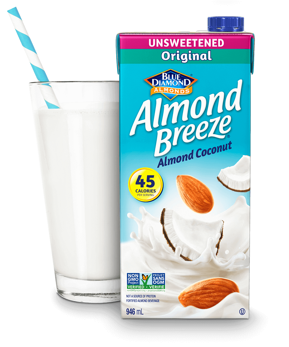 Almond Breeze Shelf Stable Unsweetened Original packaging