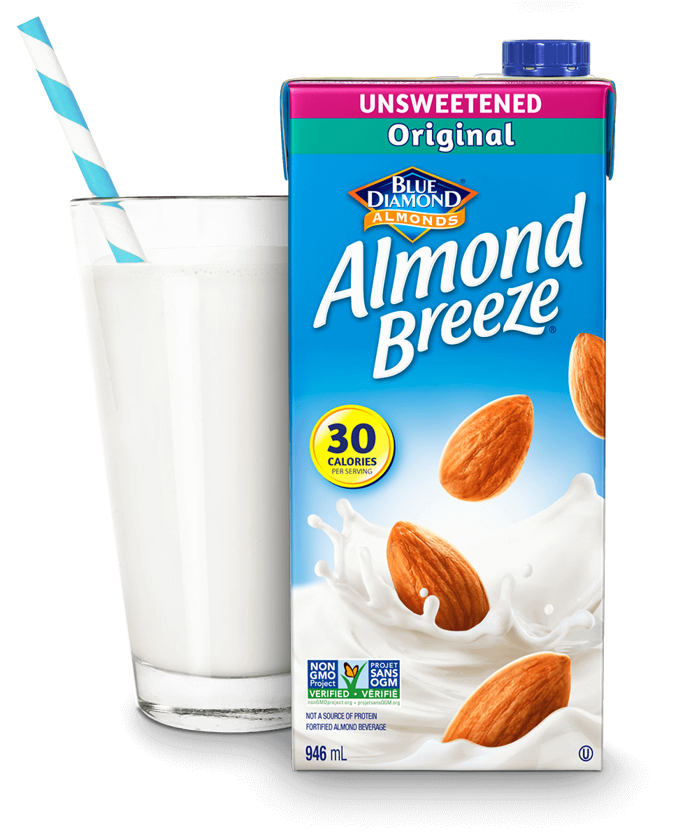 Almond Breeze Shelf Stable Unsweetened Original packaging