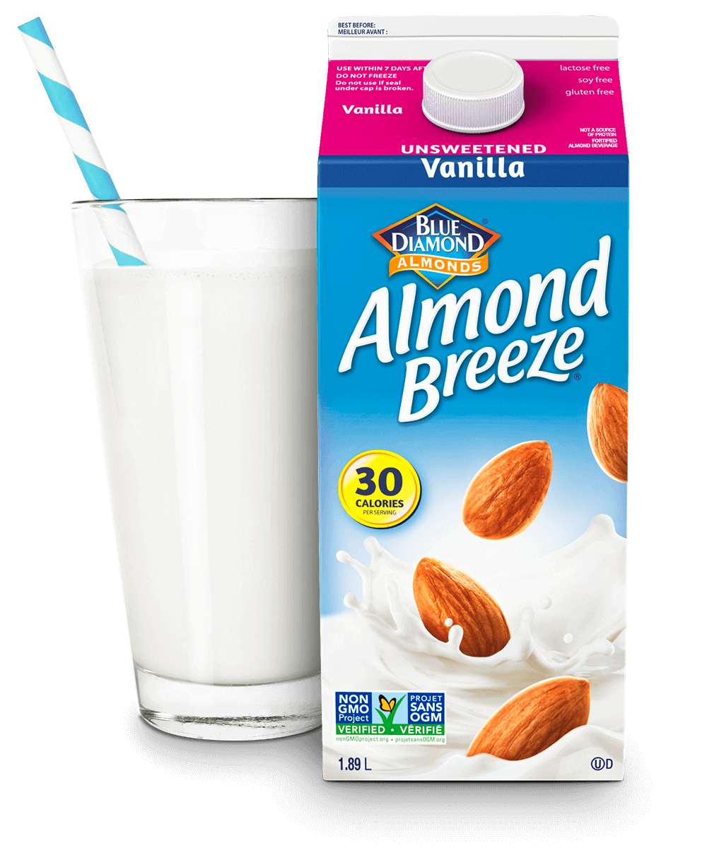Almond Breeze Refrigerated Unsweetened Vanilla packaging