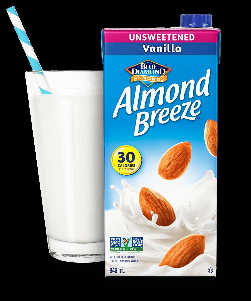 Almond Breeze Shelf Stable Unsweetened Vanilla packaging
