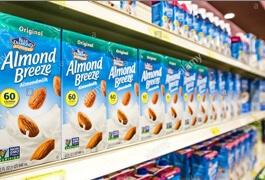 shelf of Almond Breeze Shelf Stable products