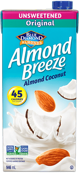 Almond Breze Shelf Stable Unsweetened Original packaging