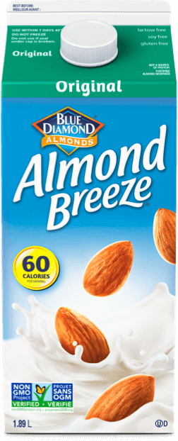 Refrigerated original almond breeze packaging