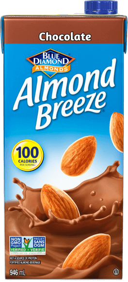 Shelf stable chocolate almond breeze packaging