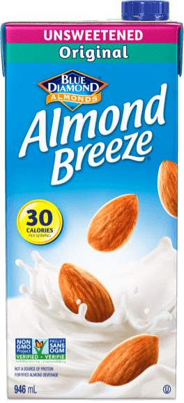 Shelf stable unsweetened almond breeze packaging